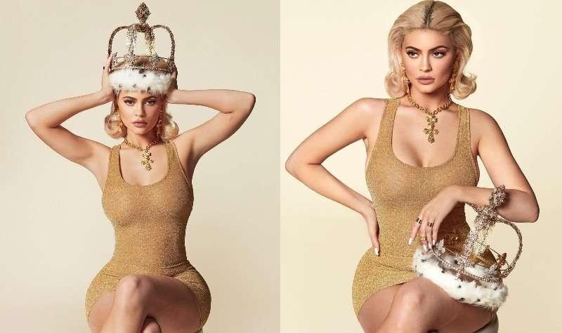 Золотое платье и корона: Кайли Дженнер презентовала календарь на 2019 год