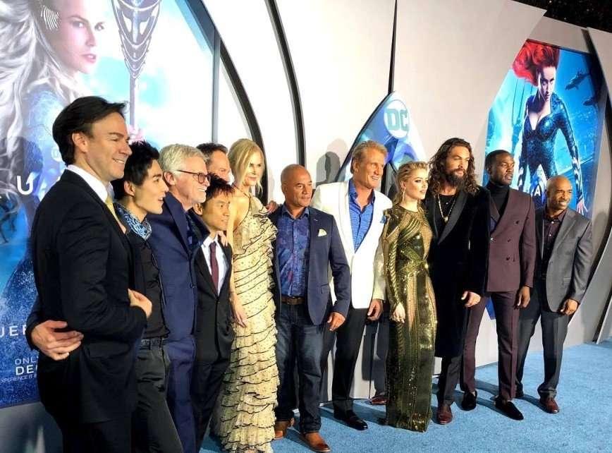 Эмбер Херд и Николь Кидман блистали на премьере «Аквамена»