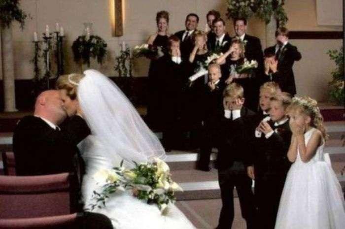 Прикольные свадебные моменты