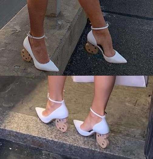 Палитра художника: Юлия Барановская пополнила гардероб затейливыми туфлями